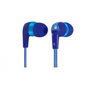 Audifonos Cable Plano Xploti On 3.5mm Eb800 Earbuds Azul Acteck