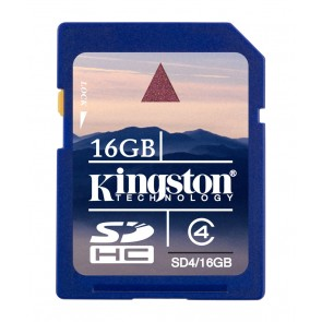 KINGSTON 16GB SDHC CLASE 4 FLASH CARD
