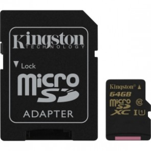Kingston 64g Micro Sdxc Clase 10 Uhs-i 90r / 45w