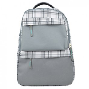 Backpack 14  Gris Con Compartim Multiples Easy Line